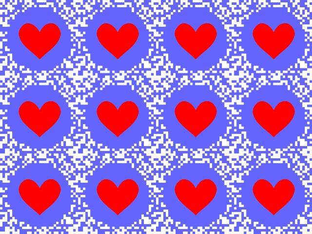 Lepattavan sydämen illuusio Kitaokan illuusiosivuilta http://www.psy.ritsumei.ac.jp/~akitaoka/flutteringheartillusion-e.html